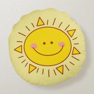 Vous êtes mon jour ensoleillé souriant mignon coussins ronds