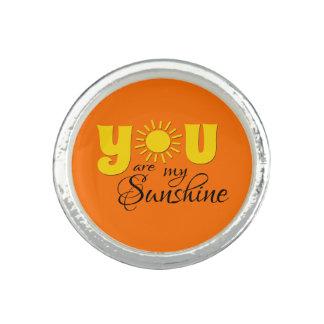 Vous êtes mon soleil bague avec photo