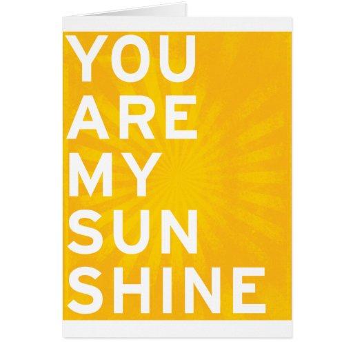 Vous êtes mon soleil (le jaune de soleil) carte de vœux