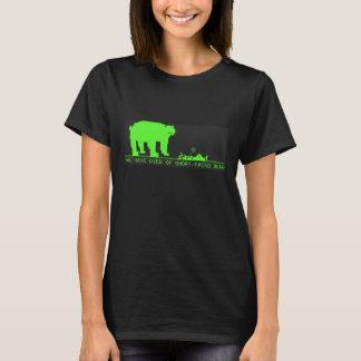 Vous êtes morts de l'ours Court-Fait face T-shirt