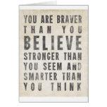 Vous êtes plus courageux que vous croyez cartes
