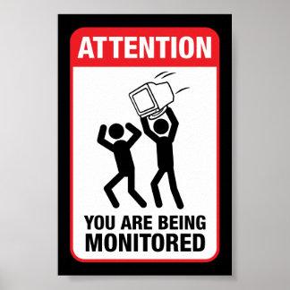 Vous êtes surveillés - humour de bureau poster