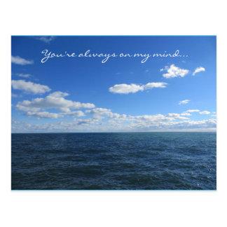 Vous êtes toujours sur ma carte postale d'esprit