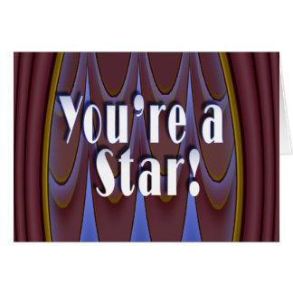 Vous êtes une étoile ! carte de vœux