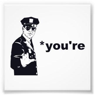 Vous êtes votre police de grammaire impression photo