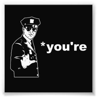 Vous êtes votre police de grammaire photo