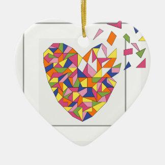 Vous faites mon coeur éclater ornement cœur en céramique