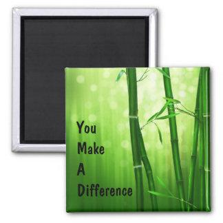 Vous faites un bambou de différence aimant