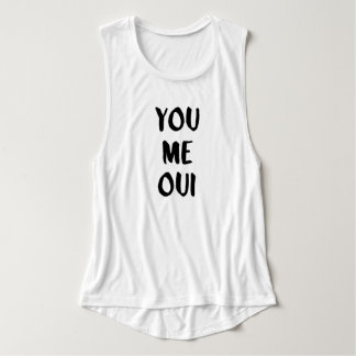 Vous je typographie française d'Oui | Débardeur