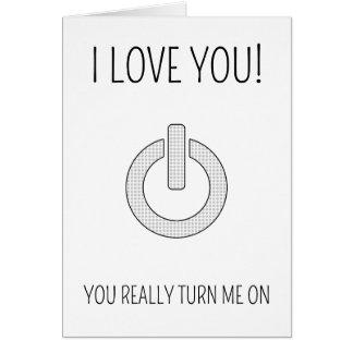 Vous m'allumez - carte ringarde de Saint-Valentin