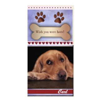 Vous manquant modèle photo de chien cartes de vœux avec photo