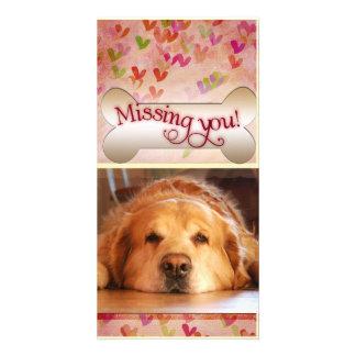Vous manquer sur le modèle photo de Saint-Valentin Cartes De Vœux Avec Photo