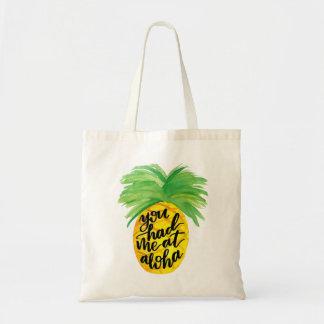 Vous m'avez eu Aloha à l'ananas Fourre-tout Sac