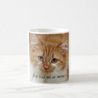 Vous m'avez eu au meow ! mug blanc
