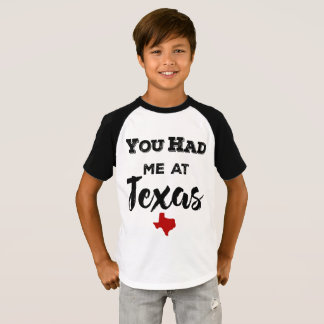Vous m'avez eu aux enfants du Texas raglans T-shirt