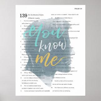 Vous me connaissez, le psaume 139, silhouette poster