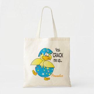 Vous me fendez vers le haut du canard de Pâques Tote Bag