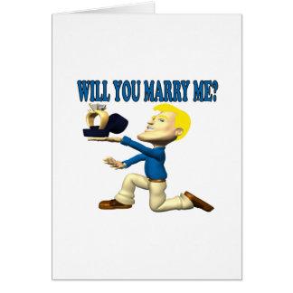 Vous m'épouserez 10 carte de vœux