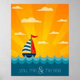 Vous moi et la mer poster