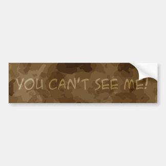 Vous ne pouvez pas me voir ! autocollant de voiture