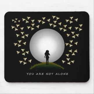 Vous n'êtes pas seul message d'ange tapis de souris