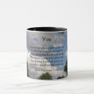 Vous poème, tasse de sonnerie