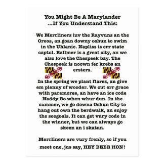 Vous pourriez être une carte postale de Marylander