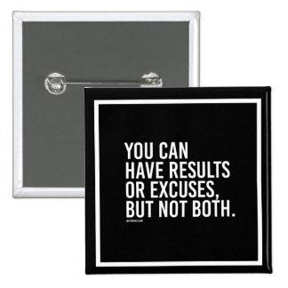 Vous pouvez avoir des résultats ou des excuses badge