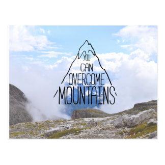 Vous pouvez monter la carte postale de montagnes