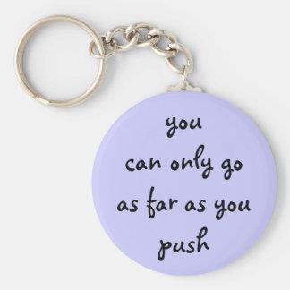 vous pouvez seulement aller dans la mesure où vous porte-clé rond