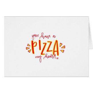 Vous prenez une pizza ma carte de Saint-Valentin