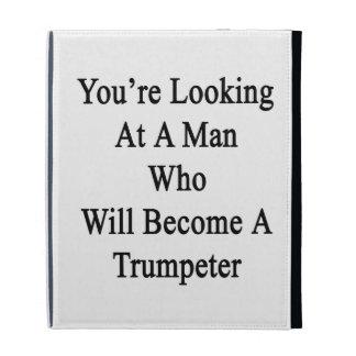 Vous regardez un homme qui deviendra un Trumpete Étui iPad Folio