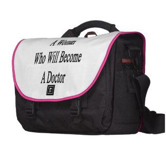 Vous regardez une femme qui deviendra un docteur sacoches pour ordinateur portable