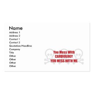 Vous salissez avec la cardiologie que vous salisse carte de visite