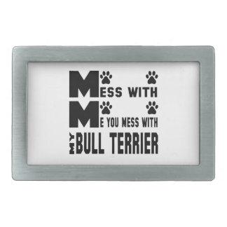 Vous salissez avec mon bull-terrier boucle de ceinture rectangulaire