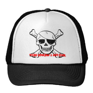 """""""Vous savez que je suis"""" chapeau mauvais de crâne Casquette De Camionneur"""