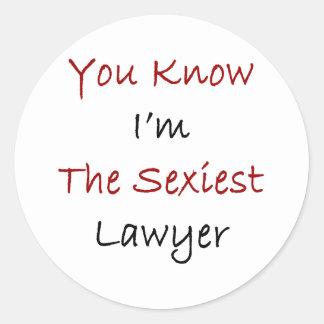 Vous savez que je suis l'avocat le plus sexy sticker rond