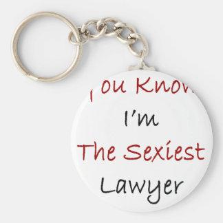 Vous savez que je suis l'avocat le plus sexy porte-clé rond