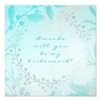 Vous serez ma guirlande bleue d'Aqua de Tiffany de Carton D'invitation 13,33 Cm