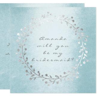 Vous serez ma guirlande d'argent de demoiselle carton d'invitation  13,33 cm