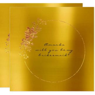 Vous serez ma moutarde d'or de demoiselle carton d'invitation  13,33 cm