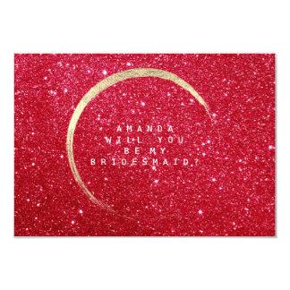 Vous serez mon vin rouge de scintillement d'or de carton d'invitation 8,89 cm x 12,70 cm