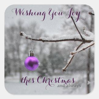 Vous souhaitant la joie autocollants de ce Noël