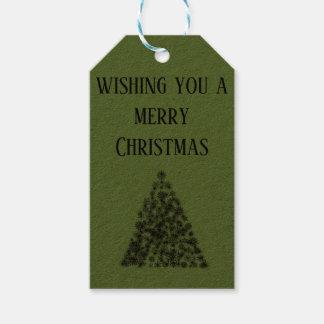 Vous souhaitant un Joyeux Noël - étiquette de