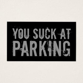 Vous sucez à garer le carte de visite noir