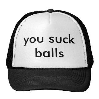 vous sucez des boules casquettes de camionneur
