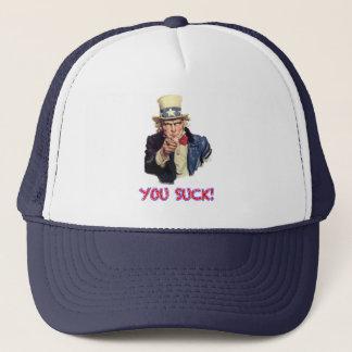Vous sucez le casquette
