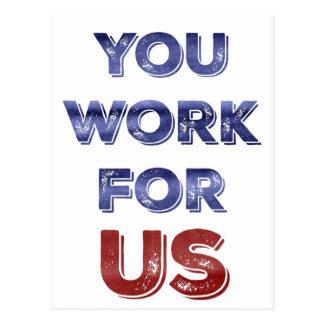 Vous travaillez pour la carte postale patriotique