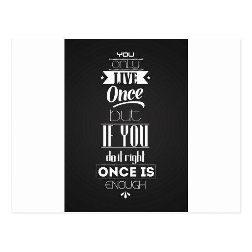 Vous vivez seulement cartes postales
