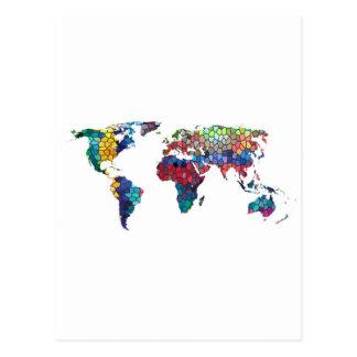 Vous voulez dire le monde à moi collection carte postale